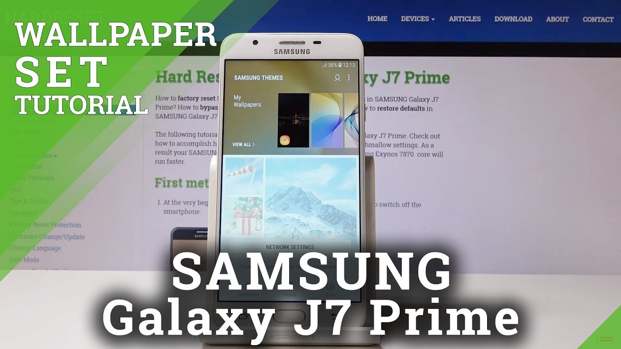 How To Set Up Home Lock Screen Wallpaper In Samsung Galaxy J7 Prime Change Wallpaper Youtube