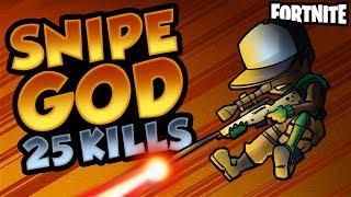 SNIPE GOD 25 KILL GAME | Fortnite