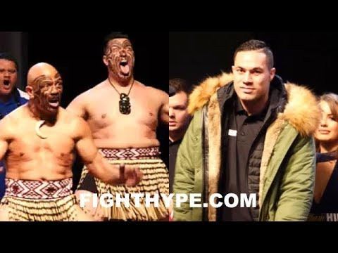 (EPIC) JOSEPH PARKER MAKES SAMOAN HAKA WAR DANCE ENTRANCE TO WEIGH-IN AND FINAL FACE OFF