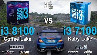 i3 8100 vs i3 7100 Test in 7 Games