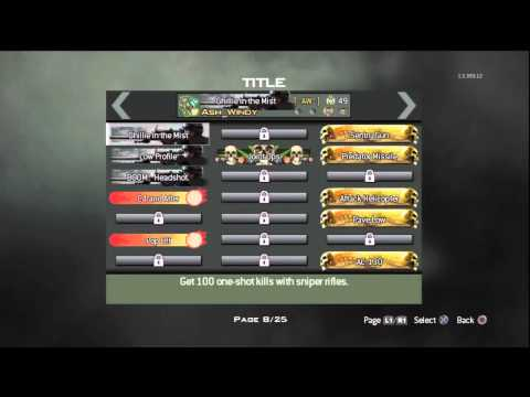 MW3: All My Titles And Emblems.. So Far..