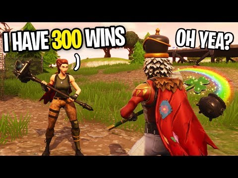 NOOB CAUGHT LYING ABOUT HIS FORTNITE WINS... (he has 0 wins, So I helped him)
