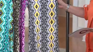 Denim & Co. Petite Sleeveless V-neck Print Maxi Dress With Jill Bauer