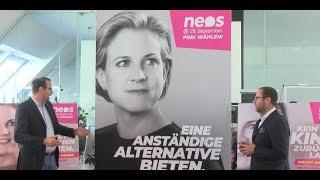 NR-Wahl 2019: Neos präsentieren 2. Plakatwelle