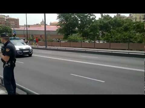 Convoy Rey Juan Carlos I. Spain King Juan Carlos I. Día de las fuerzas armadas. Valladolid 2012.
