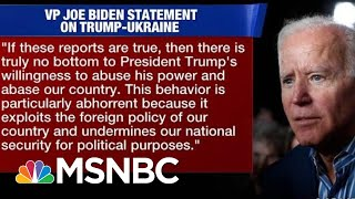 Joe Biden Calls For Release Of Transcripts On Trump's Call With Ukraine President | Hardball | MSNBC