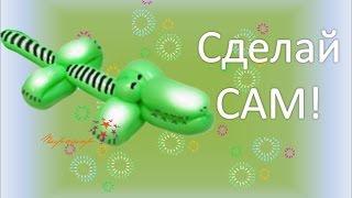 Видео урок Крокодил / Crocodile balloon for modeling