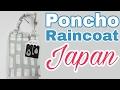 Raincoat Poncho from Japan small mobile umbrella alternative [4K]