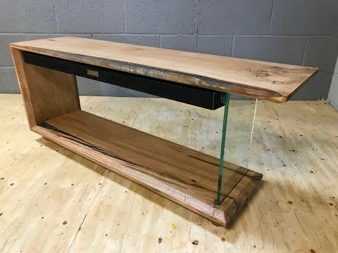 Floating Sound Bar Epoxy Resin & Oak Tv Stand No.1