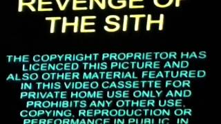Opening to Star Wars Episode III: Revenge of the Sith UK VHS (2005)