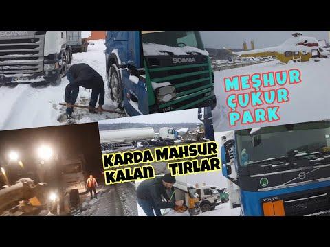 TIRLAR YOĞUN KARDA MAHSUR KALDI / MEŞHUR ÇUKUR PARK SIRBİSTAN