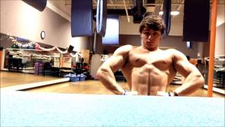 Teen Bodybuilder Jamie Pumped Muscle Flexing