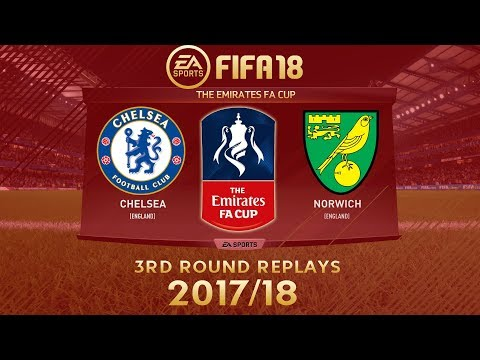 FIFA 18 Chelsea vs Norwich City | The Emirates FA Cup 2017/18 | PS4 Full Match