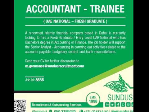 We are calling all fresh graduates- UAE nationals with Bachelors in Accounting or Finance