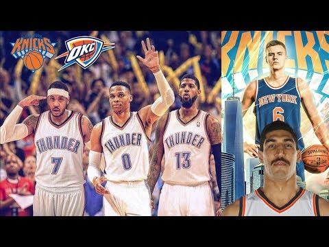 2018 OKC THUNDER VS 2018 NEW YORK KNICKS! CARMELO ANTHONY TRADED! NBA PLAYOFF SERIES SIMULATOR