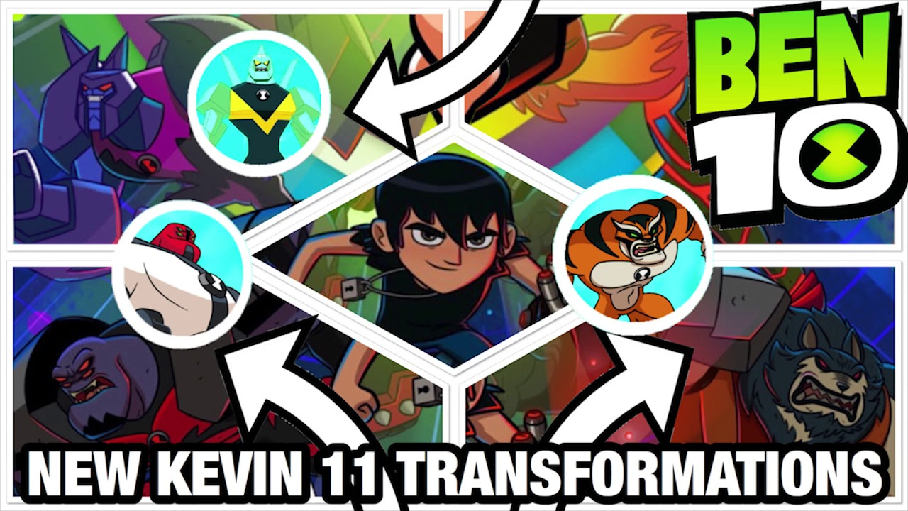 Ben 10 Reboot Season 3 NEW Kevin 11 Transformations | Quadsmack | Black Ice  | Hotshot