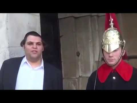 Guy makes a British Royal Guard laugh