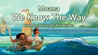 Moana - We Know The Way Karaoke