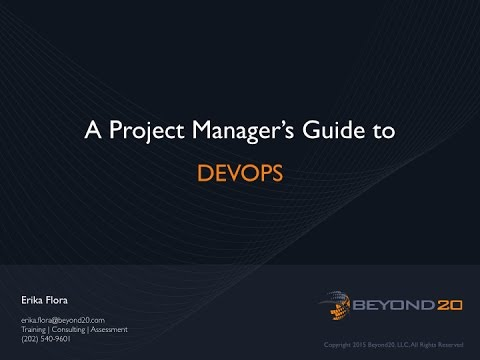 A Project Manager's Guide to DevOps