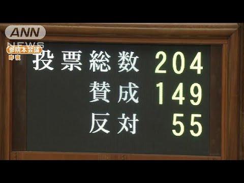 参院定数「6増」案が可決 今国会...