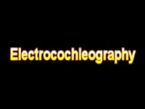 What Is The Definition Of Electrocochleography - Medical Dictionary Free Online