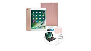 2018 Apple iPad 9.7 32GB Tablet w/Keyboard Case   Earbud...