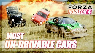 Forza Horizon 4 - Most Un-drivable Cars Challenge!