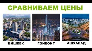 Сравниваем цены на товары и услуги в Бишкеке,  Гонконге и Ашхабаде