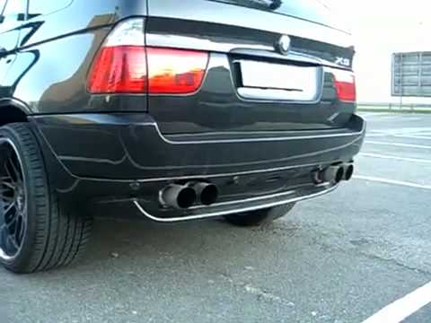 my new bmw x5 e53 sport exhaust youtube. Black Bedroom Furniture Sets. Home Design Ideas