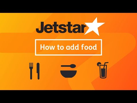 How To Add Food To Your Jetstar Australia Booking