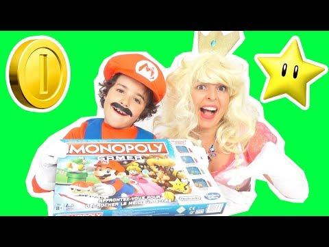 JEU - MONOPOLY GAMER - SUPER MARIO Vs PRINCESSE PEACH : QUI GAGNERA ? - JEU DE SOCIÉTÉ EN FAMILLE