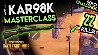 KAR98K MASTERCLASS - DESTROYING THE 15-KILL SOLO CHALLENGE - PUBG Mobile