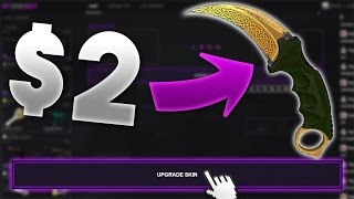 GOING FROM $2 TO A KNIFE!! | CSGOGem Upgrading Skins! (CSGO Gambling)