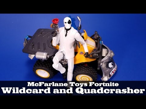 Fortnite Wildcard And Quadcrasher McFarlane Toys Epic Games Vehicle Action Figure Review