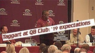 Florida State head football coach Willie Taggart at Tallahassee QB Club