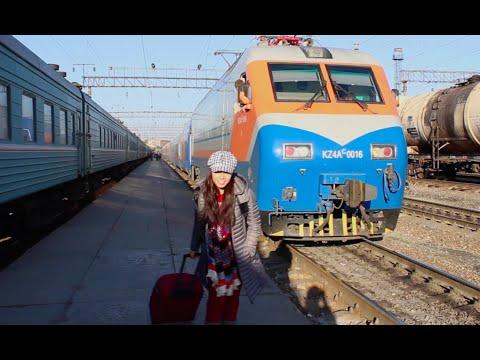 Kazakhstan: Train Ride to Shymkent (поездка в шымкент) - DiDi's Adventures Episode 9