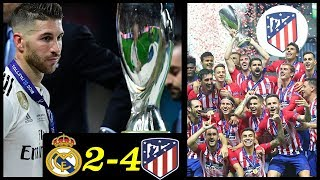 Real Madrid Vs Atlético De Madrid - El Atleti GANA La Supercopa - Doblete De COSTA - Golazo De SAUL