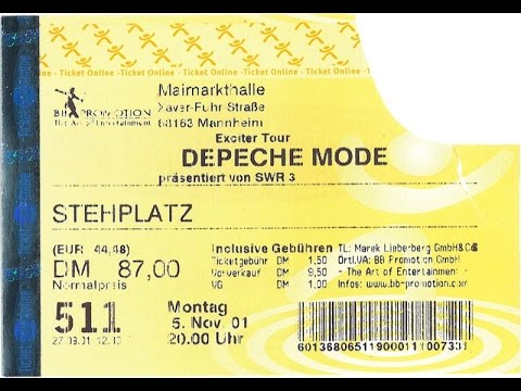 Depeche Mode in Mannheim 2001 - Last Gig of Exciter Tour