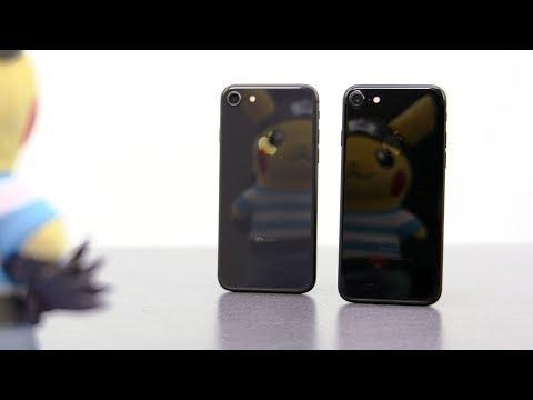 IPhone 7 Jet Black Vs. 8 Space Gray Vs. X Space Gray [4K]