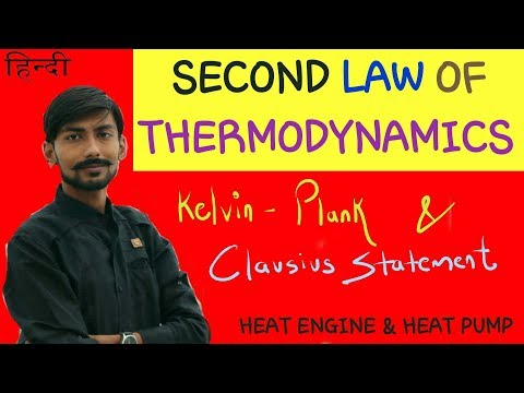 [HINDI] SECOND LAW OF THERMODYNAMICS ~ KELVIN-PLANK STATEMENT & CLAUSIUS STATEMENT OF 2ND LAW .☑️