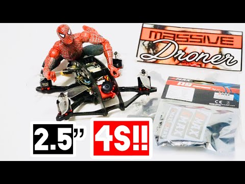 """Massive Droner 2.5"""" Emax 1106 RSII 4s review"""