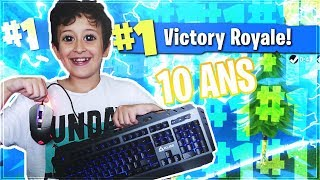 A 10 ANS IL FAIT SON PREMIER TOP 1 CLAVIER SOURIS sur FORTNITE BATTLE ROYALE !