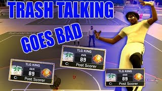 Nba 2k17|when trash talking goes bad!!!!|playing two superstars|