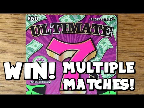 NEW TICKET! WIN with Multiple Matches! 💰 $50 Ultimate 7's! TEXAS LOTTERY SCRATCH OFF TICKET