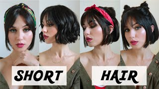 4 HAIRSTYLES TO TRY ON SHORT HAIR
