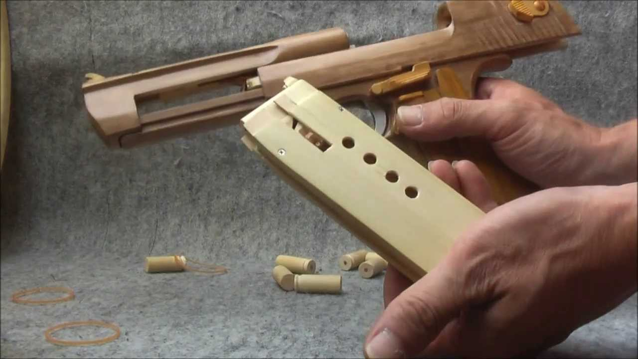 BLOW⇔BACK RUBBER BAND GUN 04.2 I.W.I DESERT EAGLE ejection ...