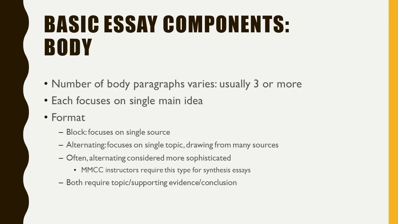 single source essay