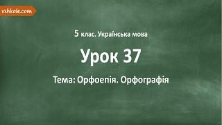 #37 Орфоепія. Орфографія. Відеоурок з української мови 5 клас