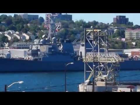 Nato Ships leaving the  Halifax harbour September 12th 2016