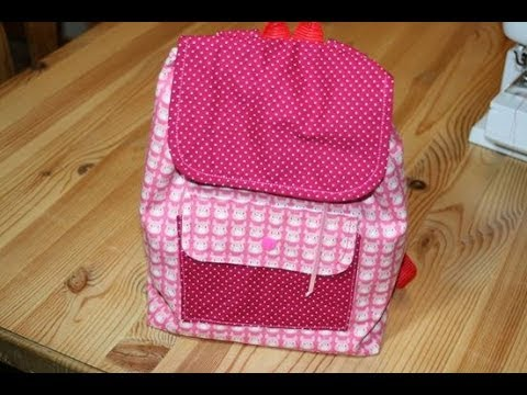 kinderrucksack lieselotte von liebeling n hen mit kostenlosem schnittmuster youtube. Black Bedroom Furniture Sets. Home Design Ideas